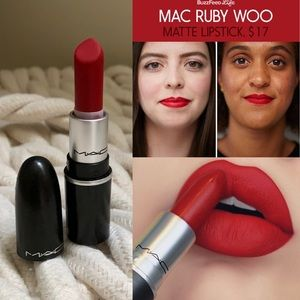 Used once MAC ruby woo retro matte mini lipstick